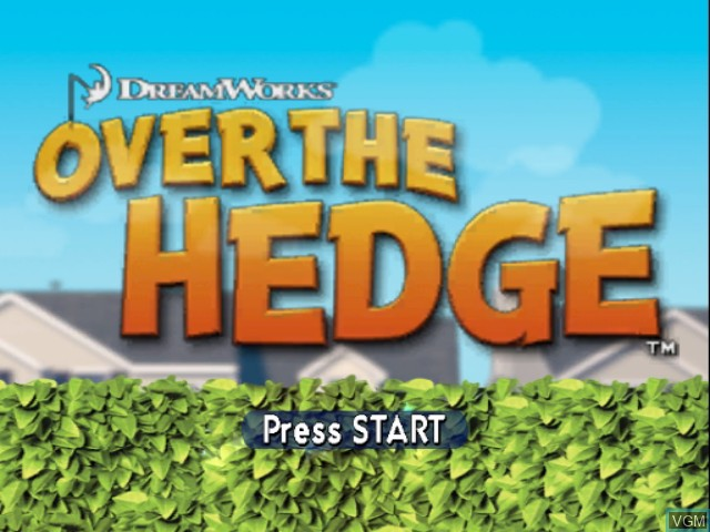 Title screen of the game Over the Hedge on Nintendo GameCube