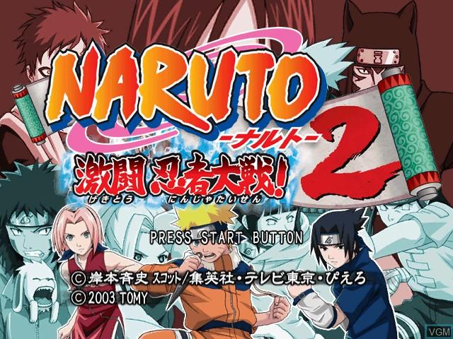 Title screen of the game Naruto - Gekitou Ninja Taisen! 2 on Nintendo GameCube