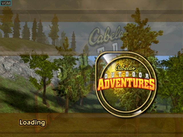 Title screen of the game Cabela's Outdoor Adventures on Nintendo GameCube