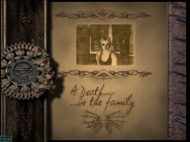 Menu screen of the game Eternal Darkness - Sanity's Requiem on Nintendo GameCube