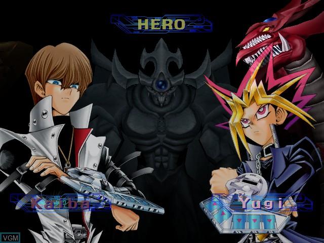 Menu screen of the game Yu-Gi-Oh! The Falsebound Kingdom on Nintendo GameCube