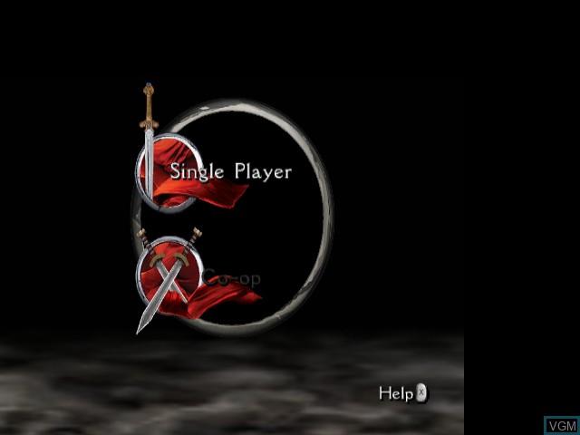 Menu screen of the game King Arthur on Nintendo GameCube