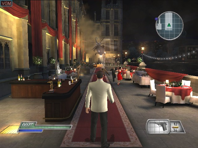 Menu screen of the game 007 - From Russia with Love on Nintendo GameCube