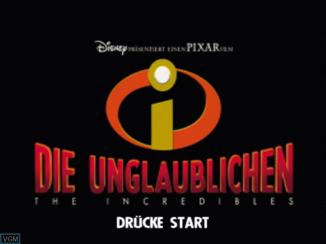 Menu screen of the game 2 Games in 1 - Disney-Pixar Die Unglaublichen + Disney-Pixar Findet Nemo on Nintendo GameCube