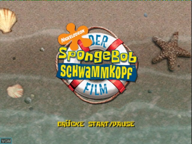 Menu screen of the game 2 Games in 1 - Nickelodeon SpongeBob Schwammkopf - Der Film + Nickelodeon SpongeBob Schwammkopf - Schlacht um Bikini Bottom on Nintendo GameCube