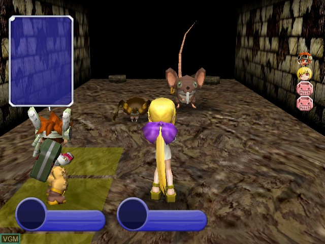 In-game screen of the game Evolution Worlds on Nintendo GameCube