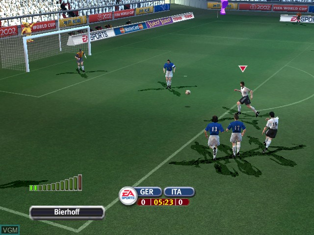 In-game screen of the game 2002 FIFA World Cup Korea Japan on Nintendo GameCube