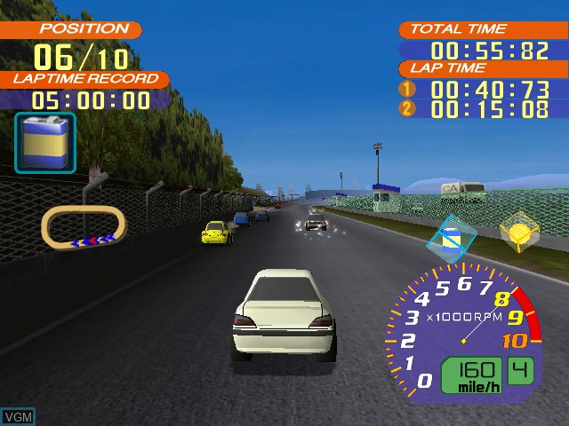 In-game screen of the game Road Trip - The Arcade Edition on Nintendo GameCube