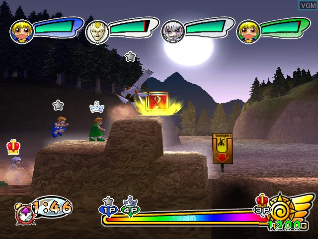 In-game screen of the game Konjiki no Gashbell!! Go! Go! Mamono Fight!! on Nintendo GameCube