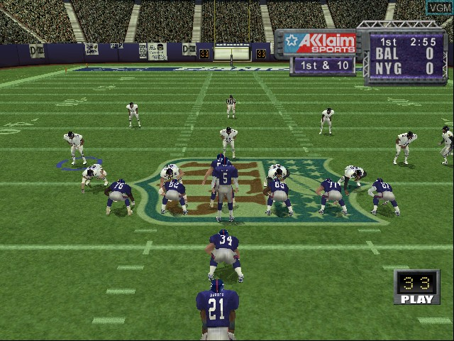 In-game screen of the game NFL QB Club 2002 on Nintendo GameCube