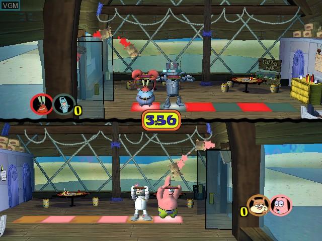In-game screen of the game SpongeBob Squarepants - Licht uit, Camera aan! on Nintendo GameCube