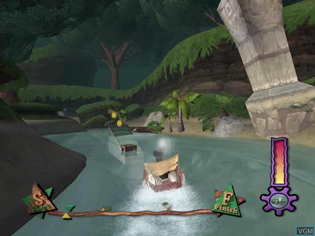 In-game screen of the game Rugrats - Royal Ransom on Nintendo GameCube