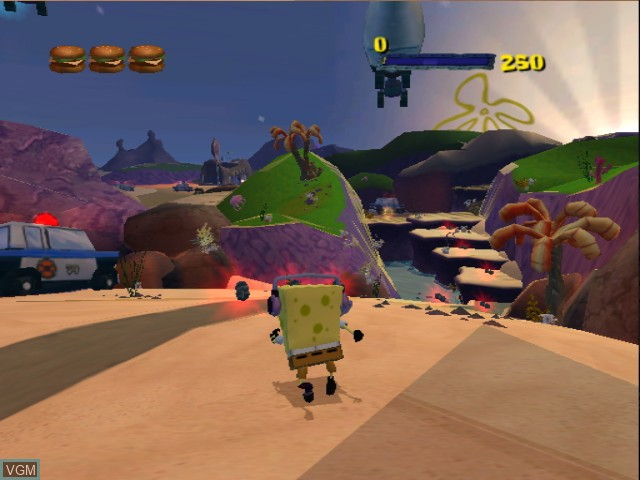 In-game screen of the game 2 Games in 1 - Nickelodeon SpongeBob Schwammkopf - Der Film + Nickelodeon SpongeBob Schwammkopf - Schlacht um Bikini Bottom on Nintendo GameCube