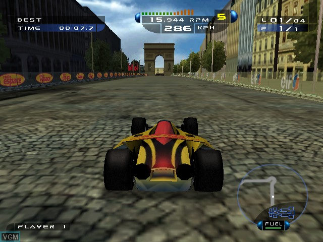In-game screen of the game Speed Challenge - Jacques Villeneuve's Racing Vision on Nintendo GameCube
