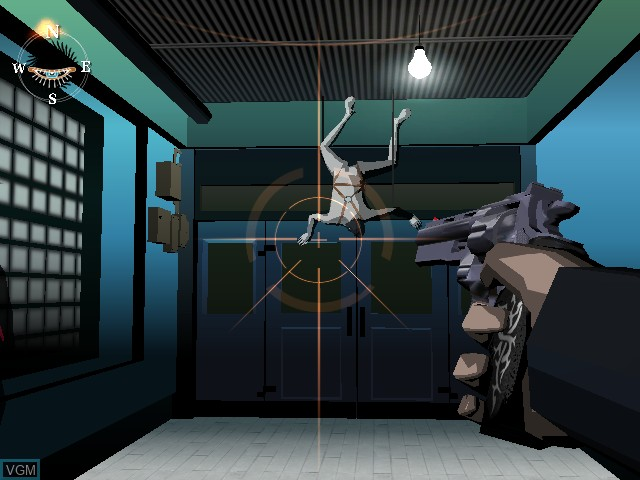 In-game screen of the game Killer 7 on Nintendo GameCube