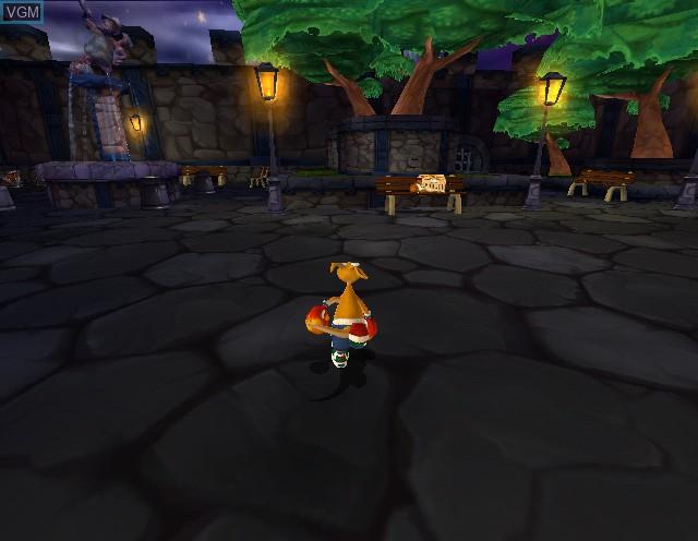 In-game screen of the game Kao the Kangaroo - Round 2 on Nintendo GameCube