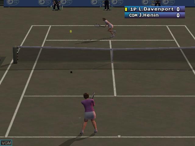 In-game screen of the game WTA Tour Tennis - Pro Evolution on Nintendo GameCube