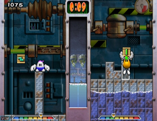 In-game screen of the game Egg Mania - Eggstreme Madness on Nintendo GameCube