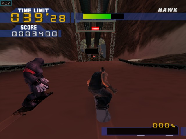 In-game screen of the game Evolution Snowboarding on Nintendo GameCube