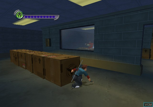 In-game screen of the game Carmen Sandiego - The Secret of the Stolen Drums on Nintendo GameCube