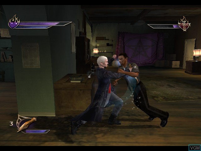 In-game screen of the game Buffy the Vampire Slayer - Chaos Bleeds on Nintendo GameCube