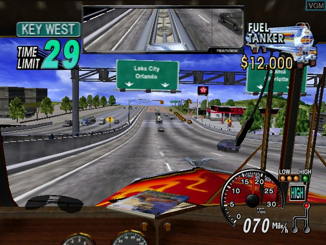 In-game screen of the game 18 Wheeler - American Pro Trucker on Nintendo GameCube