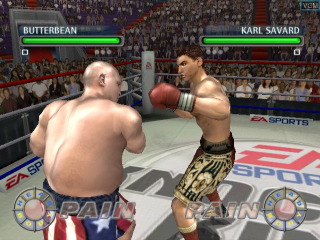 In-game screen of the game Knockout Kings 2003 on Nintendo GameCube