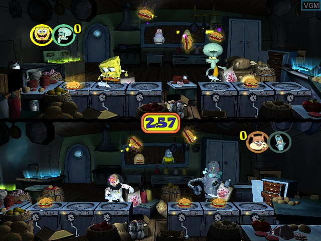 In-game screen of the game SpongeBob SquarePants - Lights, Camera, Pants! on Nintendo GameCube