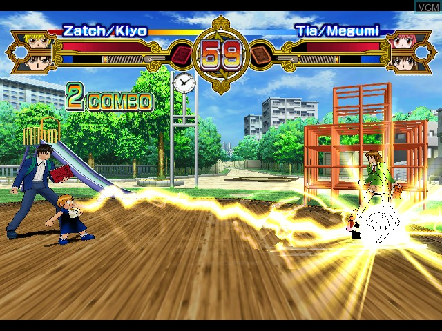 In-game screen of the game Zatch Bell! Mamodo Battles on Nintendo GameCube