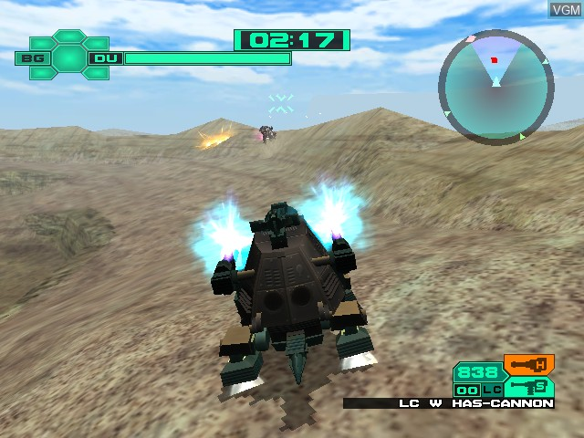 In-game screen of the game Zoids - Battle Legends on Nintendo GameCube