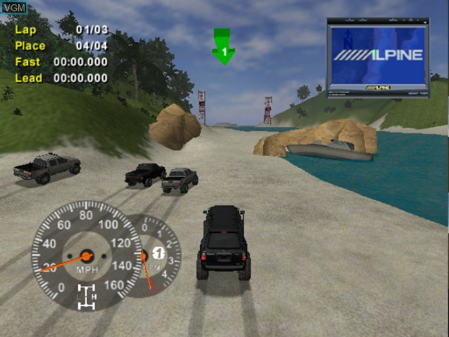 In-game screen of the game 4x4 Evo 2 on Nintendo GameCube