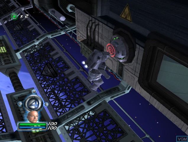 In-game screen of the game Fantastic 4 on Nintendo GameCube
