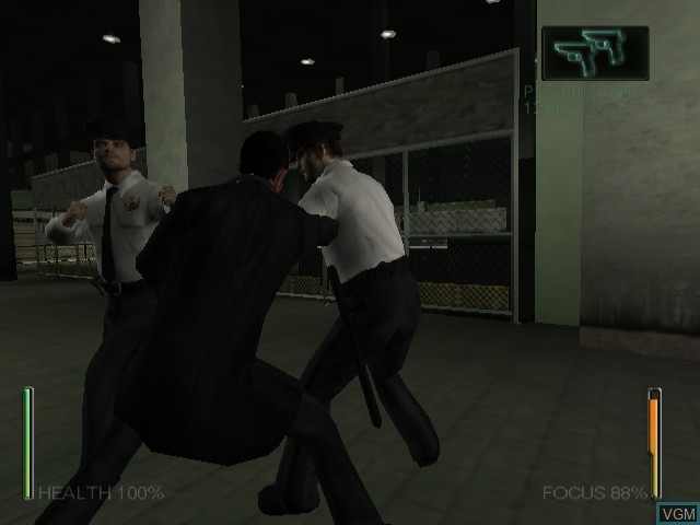 In-game screen of the game Enter the Matrix on Nintendo GameCube
