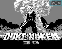 Title screen of the game Duke Nukem 3D on Tiger Game.com