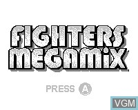 Title screen of the game Fighters Megamix on Tiger Game.com