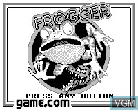 Title screen of the game Frogger on Tiger Game.com