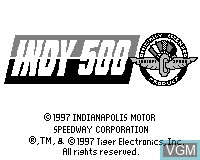Title screen of the game Indy 500 on Tiger Game.com