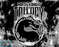 Title screen of the game Mortal Kombat Trilogy on Tiger Game.com