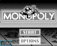 Title screen of the game Monopoly on Tiger Game.com