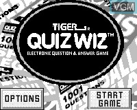 Title screen of the game Quiz Wiz - Cyber Trivia on Tiger Game.com