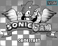 Title screen of the game Sonic Jam on Tiger Game.com