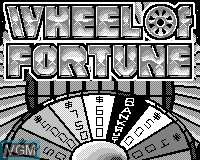 Title screen of the game Wheel of Fortune on Tiger Game.com