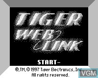 Title screen of the game Tiger Web Link on Tiger Game.com