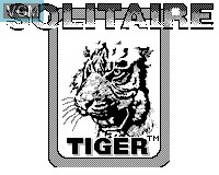 Title screen of the game Solitaire on Tiger Game.com