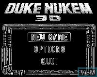 Menu screen of the game Duke Nukem 3D on Tiger Game.com