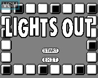 Menu screen of the game Lights Out on Tiger Game.com