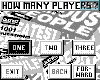 Menu screen of the game Quiz Wiz - Cyber Trivia on Tiger Game.com