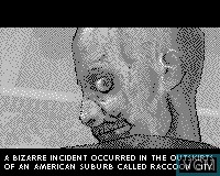 Menu screen of the game Resident Evil 2 on Tiger Game.com