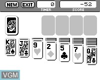 Menu screen of the game Solitaire on Tiger Game.com