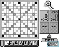 In-game screen of the game Scrabble on Tiger Game.com